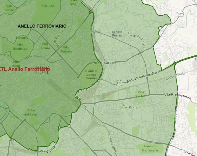 Cartina Della Fascia Verde A Roma.Mappa Di Roma Ecco La Fascia Verde Che Definisce Il Blocco Del Traffico