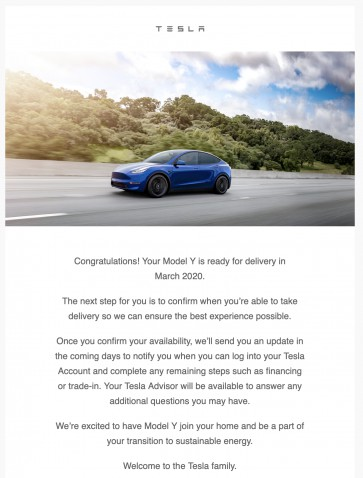 Tesla conferma gli ordini delle Model Y