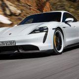 Porsche Taycan: si studia una versione a trazione posteriore
