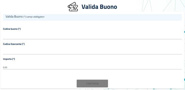 Validazione buono per bonus seggiolino: modulo da compilare