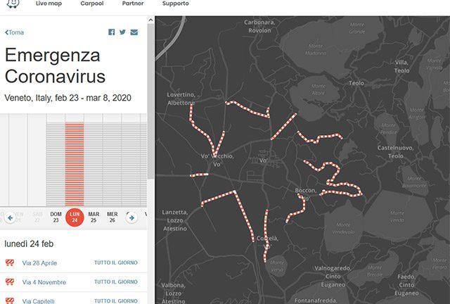 Waze: le strade della Lombardia bloccate per l'emergenza coronavirus