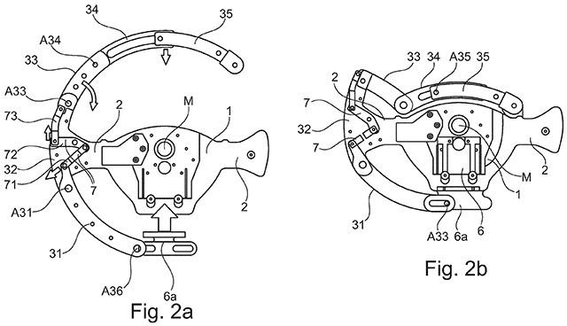 Una delle immagini incluse nel brevetto di BMW