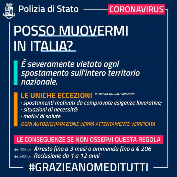 Polizia di Stato e Coronavirus
