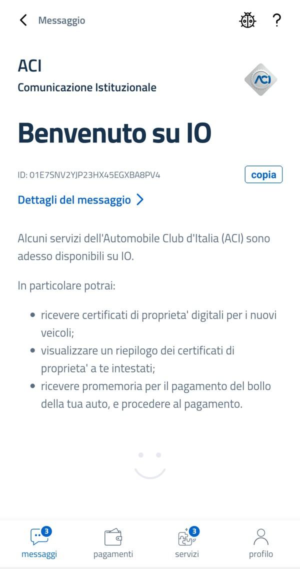App IO: i servizi ACI