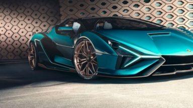 Lamborghini Sián Roadster: ecco la nuova supercar ibrida