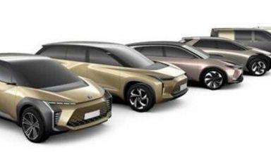 Toyota: in arrivo sei nuove auto elettriche entro il 2025
