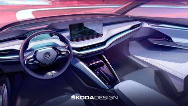 Skoda Enyaq: un teaser svela gli interni del SUV elettrico