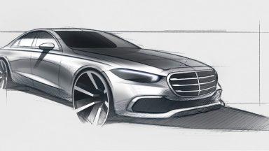 Mercedes Classe S: il teaser svela lo stile definitivo
