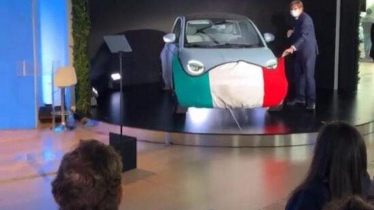 Fiat 500e mascherina