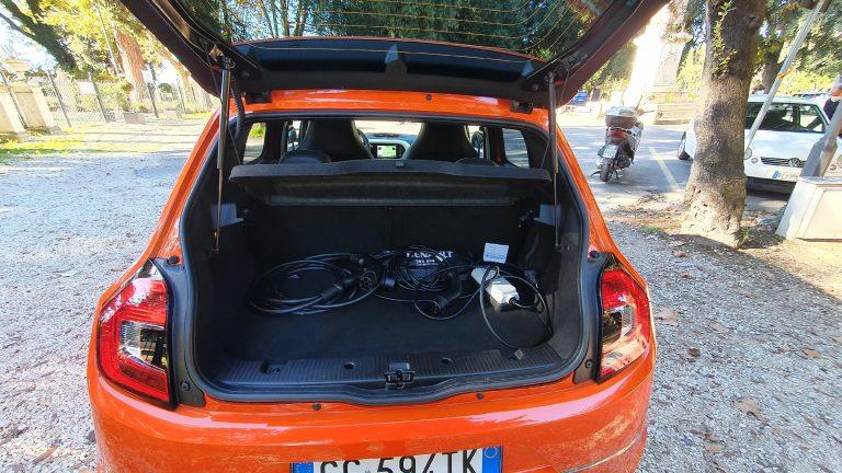 Twingo Electric: bagagliaio
