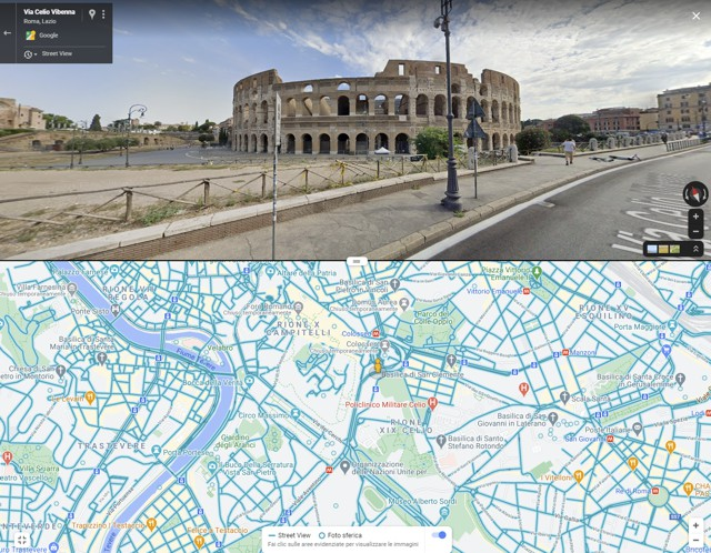 Google Maps in split view
