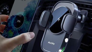 Auckly, il supporto auto con ricarica wireless