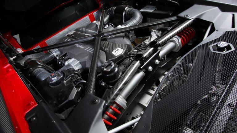 Foto del motore di Lamborghini Aventador
